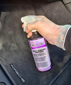 Pearl-Multi-Surface-Sanitiser-Porsche-Cayenne-Front-Footwell